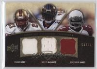 Frank Gore, Edgerrin James, Willis McGahee #/25