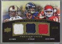 Alex Smith, Jay Cutler, Brodie Croyle [Noted] #/25