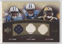Vince Young, LenDale White, Reggie Bush #/25