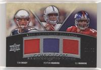 Peyton Manning, Tom Brady, Eli Manning [Noted] #/75