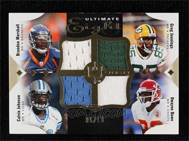 2008 Ultimate Collection - Ultimate Eight Jerseys #16 - Mario Manningham, Malcolm Kelly, Calvin Johnson, DeSean Jackson, Brandon Marshall, Hines Ward, Dwayne Bowe, Greg Jennings /10