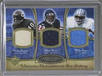 Gale Sayers, Matt Forte, Billy Sims, Barry Sanders, Jack Lambert, A.J. Hawk /20