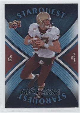 2008 Upper Deck - Starquest - Rainbow Blue #SQ22 - Matt Ryan