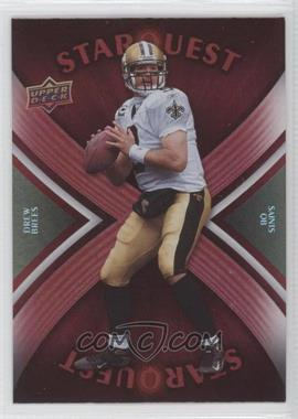 2008 Upper Deck - Starquest - Rainbow Red #SQ10 - Drew Brees