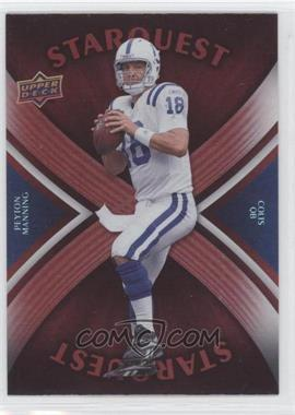 2008 Upper Deck - Starquest - Rainbow Red #SQ25 - Peyton Manning