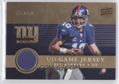 2008 Upper Deck - UD Game Jersey - Gold #UDGJ-EM - Eli Manning /200