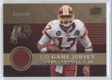 2008 Upper Deck - UD Game Jersey - Gold #UDGJ-JC - Jason Campbell /200