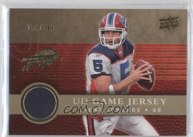 2008 Upper Deck - UD Game Jersey - Gold #UDGJ-TE - Trent Edwards /200