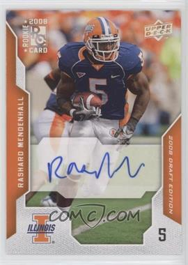 2008 Upper Deck Draft Edition - [Base] - Exclusives Autograph [Autographed] #84 - Rashard Mendenhall