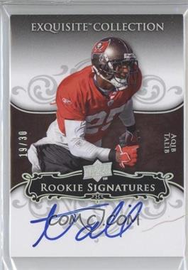 2008 Upper Deck Exquisite Collection - [Base] - Rookie Spectrum Silver #107 - Aqib Talib /30
