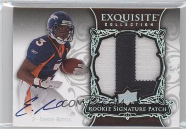 2008 Upper Deck Exquisite Collection - [Base] - Rookie Spectrum Silver #163 - Eddie Royal /75