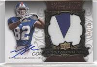Rookie Signature Patch - Mario Manningham #/199