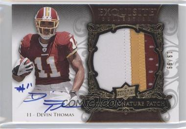 2008 Upper Deck Exquisite Collection - [Base] #176 - Devin Thomas /99