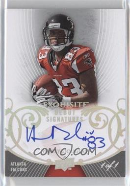2008 Upper Deck Exquisite Collection - Debut Signatures - Black #EGDS-HD - Harry Douglas /1