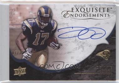 2008 Upper Deck Exquisite Collection - Exquisite Endorsements #EE-DA - Donnie Avery /30