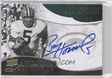 2008 Upper Deck Exquisite Collection - Notations #EN-PH - Paul Hornung /5