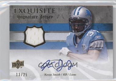 2008 Upper Deck Exquisite Collection - Signature Jerseys #ESS-KS - Kevin Smith /25