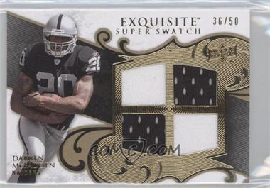 2008 Upper Deck Exquisite Collection - Super Swatch #SS-DM - Darren McFadden /50