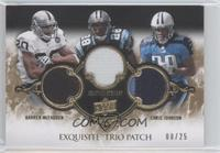 Jonathan Stewart, Chris Johnson, Darren McFadden /25
