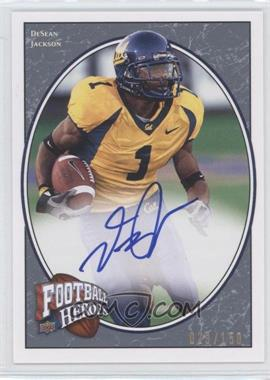 2008 Upper Deck Football Heroes - [Base] - Blue Autographs [Autographed] #137 - DeSean Jackson /150