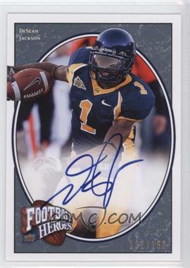 2008 Upper Deck Football Heroes - [Base] - Blue Autographs [Autographed] #138 - DeSean Jackson /150