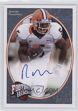 2008 Upper Deck Football Heroes - [Base] - Blue Autographs [Autographed] #188 - Rashard Mendenhall /350