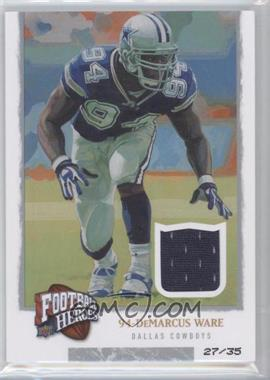 2008 Upper Deck Football Heroes - [Base] - Gold Jerseys [Memorabilia] #25 - DeMarcus Ware /35