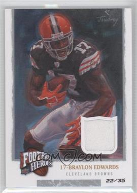 2008 Upper Deck Football Heroes - [Base] - Gold Jerseys [Memorabilia] #9 - Braylon Edwards /35
