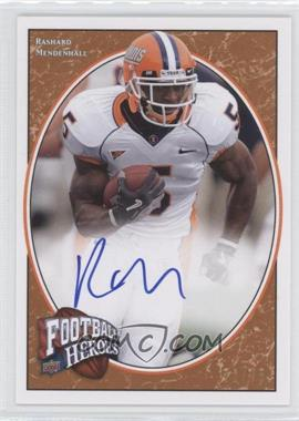 2008 Upper Deck Football Heroes - [Base] - Red Autographs [Autographed] #188 - Rashard Mendenhall /75