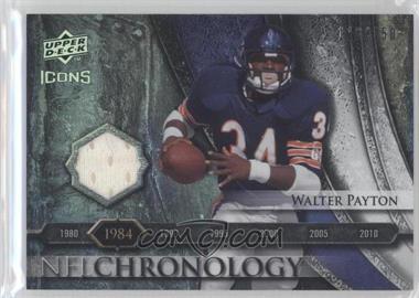 2008 Upper Deck Icons - NFL Chronology - Rainbow Jerseys [Memorabilia] #CHR13 - Walter Payton /150