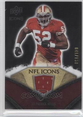 2008 Upper Deck Icons - NFL Icons - Silver Jerseys [Memorabilia] #NFL39 - Patrick Willis /150