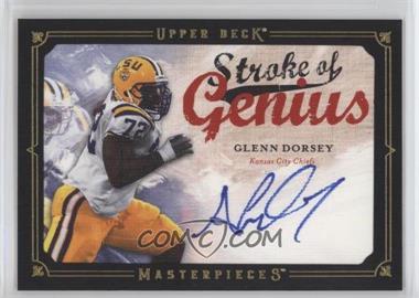 2008 Upper Deck Masterpieces - Stroke of Genius - Black Framed #SOG38 - Glenn Dorsey