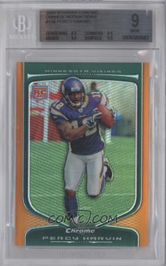 2009 Bowman Chrome - [Base] - Orange Refractor #138 - Percy Harvin /25 [BGS 9]
