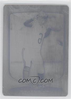 2009 Bowman Chrome - [Base] - Printing Plate Black #8 - Jay Cutler /1