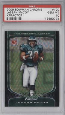 2009 Bowman Chrome - [Base] - X-Fractor #120 - LeSean McCoy /250 [PSA 10]