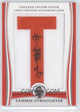 2009 Bowman Draft Picks - College Letter Patch #LAP-SS - Sammie Stroughter /92