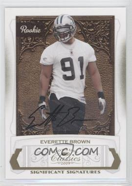 2009 Donruss Classics - [Base] - Significant Signatures Gold [Autographed] #187 - Everette Brown /250
