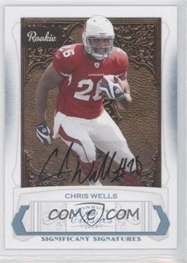2009 Donruss Classics - [Base] - Significant Signatures Platinum [Autographed] #171 - Chris Wells /25