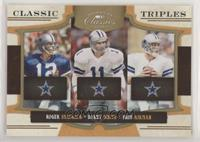 Roger Staubach, Troy Aikman, Danny White #/100