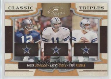 2009 Donruss Classics - Classic Triples - Silver #1 - Danny White, Troy Aikman, Roger Staubach /250