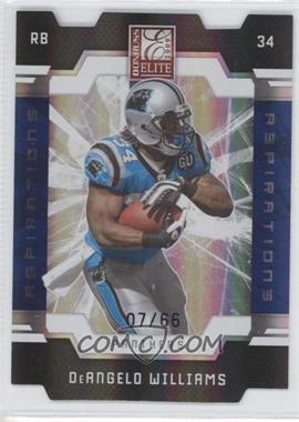 2009 Donruss Elite - [Base] - Aspirations Die-Cut #14 - DeAngelo Williams /66