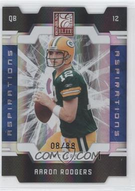 2009 Donruss Elite - [Base] - Aspirations Die-Cut #36 - Aaron Rodgers /88