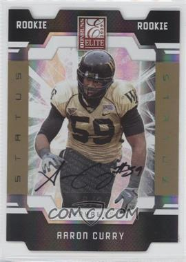 2009 Donruss Elite - [Base] - Status Gold Die-Cut Signatures [Autographed] #101 - Aaron Curry /24