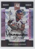 Autographed Rookies - Dominique Edison /499