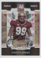 Autographed Rookies - Everette Brown #/299
