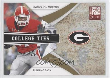 2009 Donruss Elite - College Ties - Gold #14 - Knowshon Moreno /399