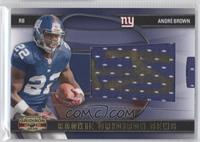 Rookie Gridiron Gems Jumbo Signatures - Andre Brown /100