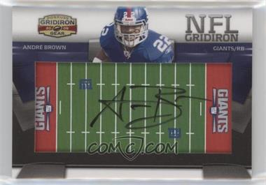 2009 Donruss Gridiron Gear - NFL Gridiron Rookie Signatures #19 - Andre Brown /45