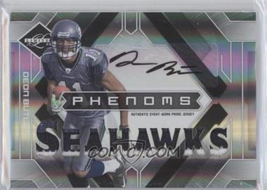 2009 Donruss Limited - [Base] #215 - Phenoms Jersey Prime Autographs - Deon Butler /149