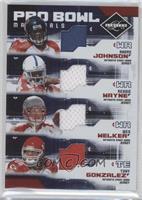 Wes Welker, Tony Gonzalez, Reggie Wayne, Andre Johnson /100